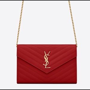 Monogram YSL chain wallet bag